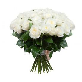 Букет из 35 белых английских роз
